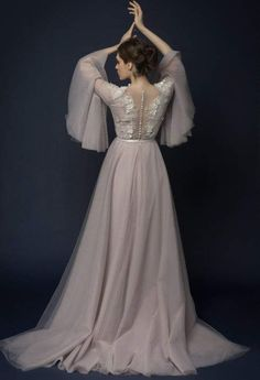 LILLA/ lavender tulle wedding dress with french lace top / Bohemian wedding dress hand… - https://www.luxury.guugles.com/lilla-lavender-tulle-wedding-dress-with-french-lace-top-bohemian-wedding-dress-hand-15/