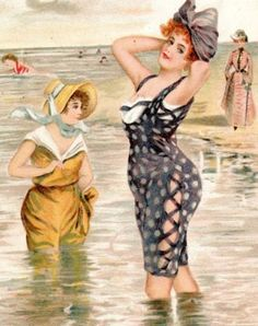 hoodoothatvoodoo:  Bathing Belles Unknown Artist