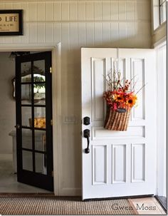 Black door and house tour