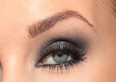 Smokey eye that's not terribly dramatic, love how it pops the color of her eyes