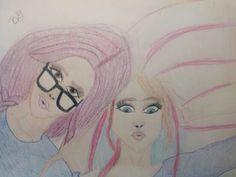 Drawing of two girls ~ BriLynn