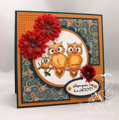 Love the idea of flower embellishments on this card.