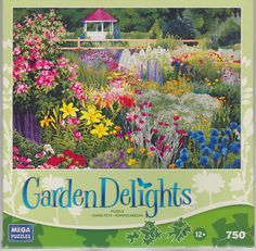 """MEGA Jigsaw Puzzles GARDEN DELIGHTS - """"Door County Gazebo"""" 750 Pieces Ages 12+ in Toys & Hobbies, Puzzles, Contemporary Puzzles 