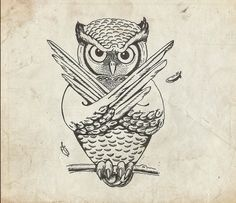 'Owlverine' by Riyas Mohammed Wise Owl, Unusual Art, Owls, Envy, Coloring, Sketch, Illustrations, Black And White, My Love