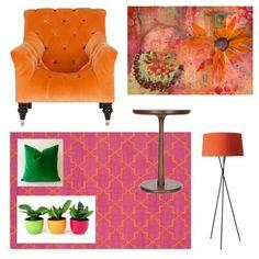 Spring colors #pink #orange #moodboard #claudiamcbain