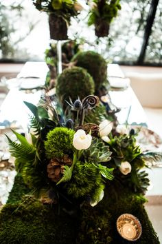 Forest Themed Wedding Tablescape