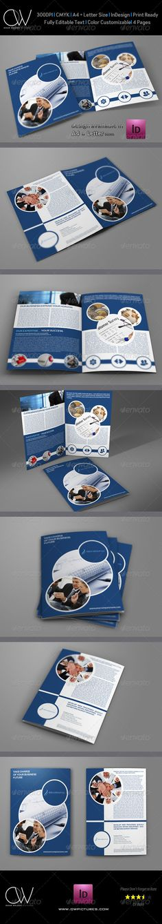 Company Brochure Bi-Fold Template Created: 6 December 13 Graphics Files Included: InDesign INDD Layered: Yes Minimum Adobe CS Version: Print Dimensions: Tags advertisements fold fold brochure template brochure Bi Fold Brochure, Corporate Brochure, Business Brochure, Brochure Design, Flyer Design, Corporate Design, Letterhead Template, Brochure Template, Flyer Template