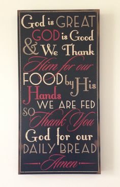 Dining Room Decor. Love it :)..especially since this is the prayer my littles say.