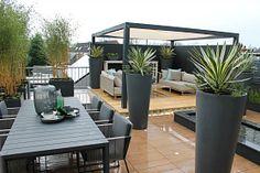 New York Chique Daktuin   Eigen Huis & Tuin Garden Deco, Rooftop Garden, Amazing Gardens, Backyard Landscaping, Landscape Design, Pergola, New York, Patio, Interior Design
