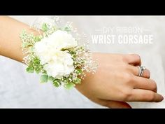 DIY Ribbon Wrist Corsage   Simple and Easy - YouTube