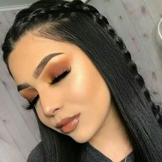 Favorite Beauty Eye Makeup Looks Ideas 16 Makeup Eye Looks, Cute Makeup, Gorgeous Makeup, Pretty Makeup, Brown Makeup Looks, Awesome Makeup, Makeup Tips, Beauty Makeup, Hair Makeup