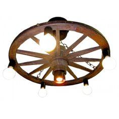 24 inch Mini Down Light Carriage Wheel Chandelier