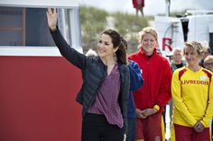 Crown Princess Mary of Denmark, as patron of the Danish Swimming Federation, participated in the inauguration of the new Life-Saving Post at the Tversted Strand (Beach) in North Jylland, Denmark on June 22, 2015.
