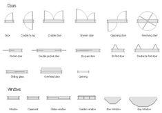 how to draw sliding door in floor plan - Google Search