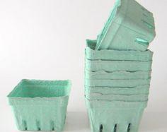 35 qty. Pint Berry Baskets, Berry Till, Biodegradable Paper Pulp Basket, Wedding Favor Basket, Farm Theme Party Favor, Spring Favor Basket