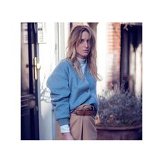 #分享Instagram# Perfect blue bomber @raspberrynrouge in @ganni #blue #wool #bomberjacket #style #streetstyle #fashion #ganni #look #design #styling #shop www.ganni.com