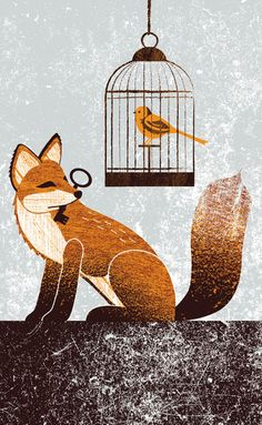 You? A cunning Fox.... Me? A helpless Bird with clipped wings.... YOU'VE RUINED ME.  Cunning Fox Art Print by Kate McLelland | Society6