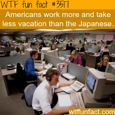 American work vs Japanese work - WTF fun facts