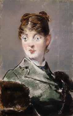 The Athenaeum - Parisienne, Portrait of Madame Jules Guillemet (Edouard Manet - 1880)