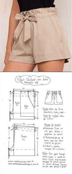 Terrific Pics easy sewing shorts Tips Hose 😍♥️ Diy Clothing, Clothing Patterns, Dress Patterns, Fashion Sewing, Diy Fashion, Fashion Outfits, Denim Outfits, Moda Fashion, Sewing Shorts