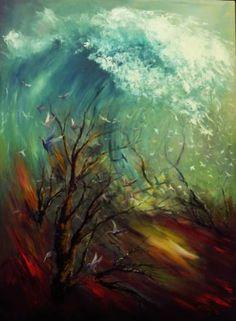 "Saatchi Art Artist Atalay Mansuroğlu; Painting, ""Welle"" #art"