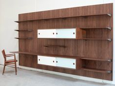 Sectional wooden storage wall FJ Collection by Onecollection | design Finn Juhl