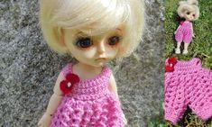 Crocheted overlay for Yellow Lati 1/8 doll