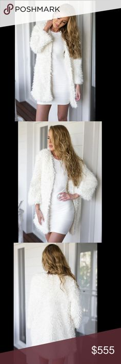 Coming soon Gorgeous white fluffy and shaggy faux fur cardigan Sweaters Cardigans