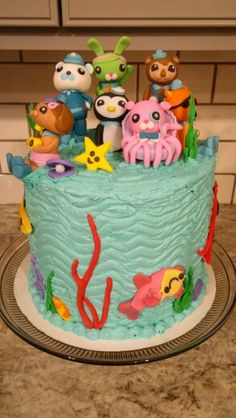DIY Amateur buttercream and fondant Octonauts cake Simple Enjoyed
