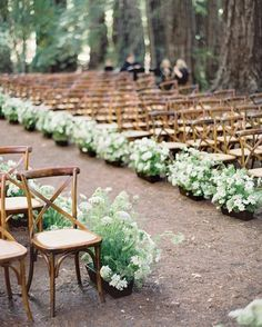 "Once Wed on Instagram: ""A flower-lined aisle for a magical ceremony among the trees."