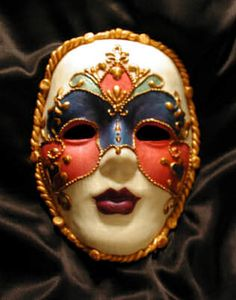 I don't know if a director would ever prefer we paint our faces like a mask instead of wear one, but you never know! I like this one because it is simple compared to most Venetian masks, but still beautiful.