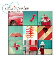 Cute and sweet red and turquoise inspirations with a 50's vibe.