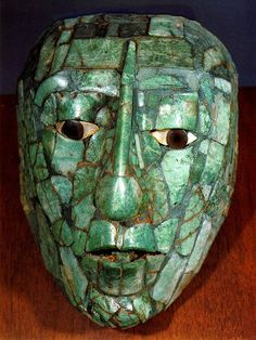 Lord Pacal - ruler of Palanque - Jade Funeral Mask. National Museum of Anthropology and History