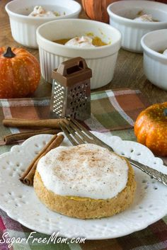 Low Carb Gluten Free Pumpkin Pie Crustless Custard-sugarfreemom.com