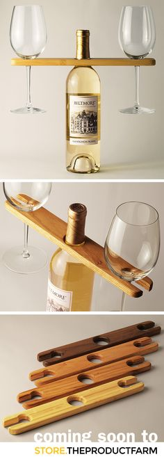 The VinoCaddy, designed and hand-made by local designer Daniel Hilgenberg, is the perfect way to carry two wine glasses and a bottle. It's also a great presentation piece. There are four material options available: 1) domestic walnut, 2) domestic oak, 3) salvaged and up-cycled domestic chestnut (now extinct), 4) bamboo. Hand made with pride in the USA. Now available at store.theproductfarm.com!@The Product Farm store.theproductfarm.com