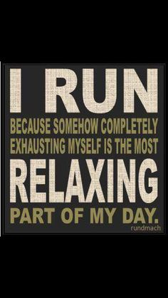 Yes! The reason I MUST run after work to decompress and release!!