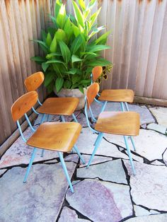 MidModMen+friends: Authentic mid-century modern furniture at its bestMidModMen+friends School Chairs, Vintage School, Mid Century Modern Furniture, Diy Projects To Try, Home Decor Inspiration, Brave, Mid-century Modern, Basement, Dining Chairs