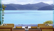 Qualia // A view of the Great Barrier Reef while you relax on the patio of this one-in-a-million lodge