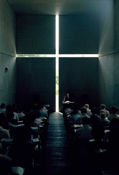 Unnasuming from the outside, Tadao Ando's 'Church of Light' inspires the devout from the inside.