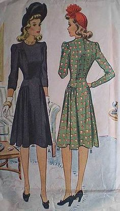 1940s dress pattern.