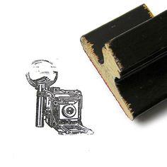 Vintage 1970s Wood Handle Rubber Stamp Retro by 42ndAvenueVintage