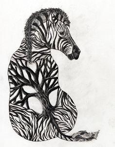 ZebraTree-brookeduckart by brookeduckart, via Flickr