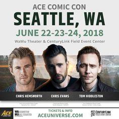 SEATTLE, March 28, 2018 /PRNewswire/ -- Chris Evans (Captain America), Chris Hemsworth(Thor),and Tom Hiddleston (Loki), stars of the worldwide hit Avengers fi