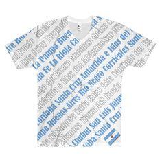 Provincias de Argentina Men's V-Neck T-Shirt