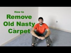 How to Remove Old Nasty Carpet -- by Home Repair Tutor. Take out your old carpet and get some great tips that'll help with the new flooring. A must see for anyone installing new carpet, tile or hardwood.