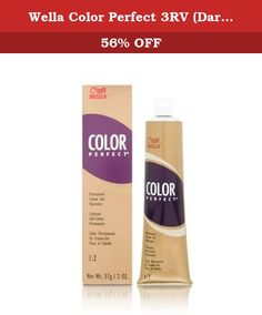 Wella Color Perfect 3RV (Dark Red Violet Brown). An excellent array of creme gel colors formulated to be completely interminable to create any shade desired with predictable natural looking results.