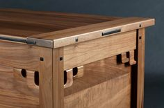 Greene and Greene style blanket chest resembles the bottom of the Blacker house bookcase. Built with solid Black Walnut throughout and raised Ebony plugs. The sliding till is finger jointed walnut. Woodworking Images, Woodworking Quotes, Woodworking School, Woodworking Guide, Popular Woodworking, Woodworking Projects Plans, Fine Woodworking, Woodworking Classes, Woodworking In An Apartment
