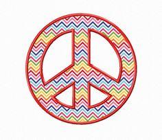 $2.95Peace Sign Applique Machine Embroidery Design
