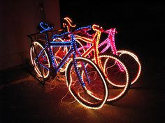 LED lights on bicycles Burning Man Fashion, Burning Man Outfits, Africa Burn, Burning Man 2017, Rim Light, Cool Gadgets, Cool Stuff, Instagram, Bike Stuff
