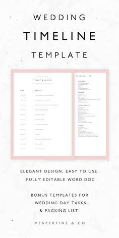 Microsoft Word Document Wedding Timeline Template Planning Steps In Schedule Templates Packing Checklist